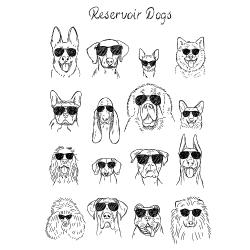 t-shirt Reservoir Dogs – Chien