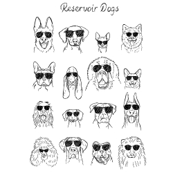 t-shirt Reservoir Dogs – Chien
