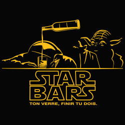t-shirt Star Wars au bar