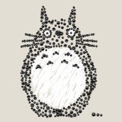t-shirt Totoro Susuwatari