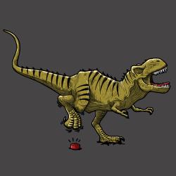 t-shirt Tyrannosaure, la malédiction