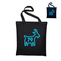 Tote bag Chèvre bleue