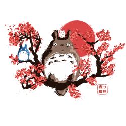 t-shirt Totoro estampe