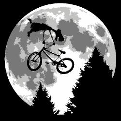 t-shirt backflip ET lune