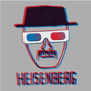 dessin t-shirt Heisenberg 3D geek original