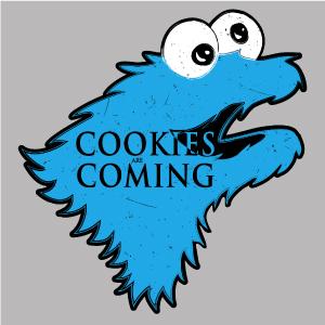 dessin t-shirt Cookies are coming geek original