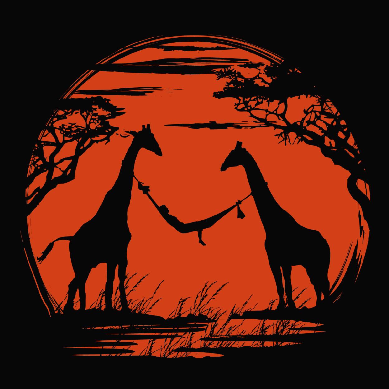 dessin t-shirt Girafe geek original