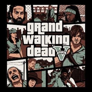 dessin t-shirt Grand Walking Dead geek original
