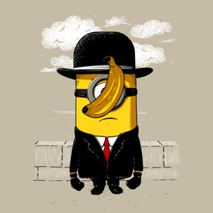 dessin t-shirt Minion Magritte geek original