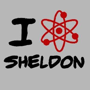 dessin t-shirt I love Sheldon Cooper geek original