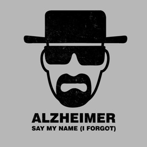 dessin t-shirt Heisenberg…Alzheimer geek original