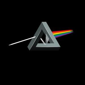 dessin t-shirt Dark side on the Moon, Pink Floyd geek original