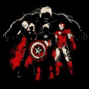 dessin t-shirt Avengers geek original