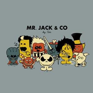 dessin t-shirt Mr. Tim Burton geek original