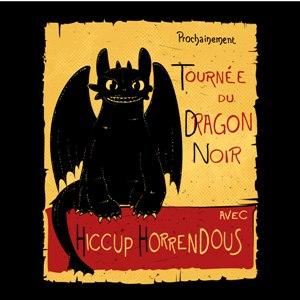dessin t-shirt Dragon noir geek original