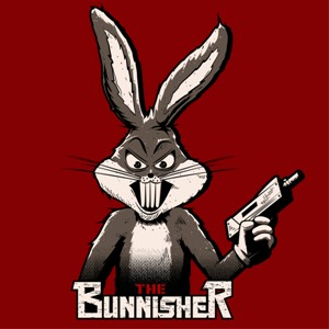dessin t-shirt Bugs Bunny, le Punisher. geek original