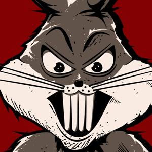 zoom t-shirt Bugs Bunny, le Punisher. geek original