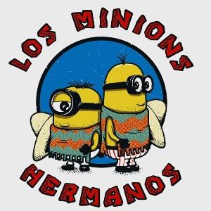 dessin t-shirt Los Minions geek original