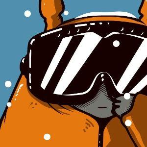 zoom t-shirt Totoro fait du ski geek original