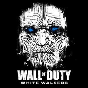 dessin t-shirt Call of Duty et les marcheurs blancs geek original