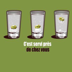 dessin t-shirt Le cocktail petit Grégory geek original