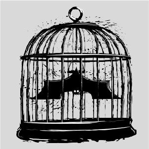 dessin t-shirt Batman en cage geek original