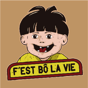 dessin t-shirt Haribo f'est bo la vie geek original