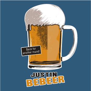 dessin t-shirt Justin Bieber geek original