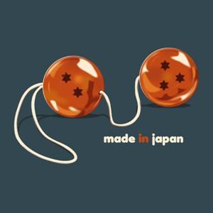 dessin t-shirt Dragon boules de geisha geek original