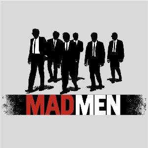 dessin t-shirt Reservoir dogs et Mad Men geek original