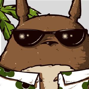 zoom t-shirt Totoro fait du surf geek original