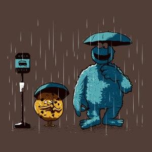 dessin t-shirt Mangeur de cookies geek original