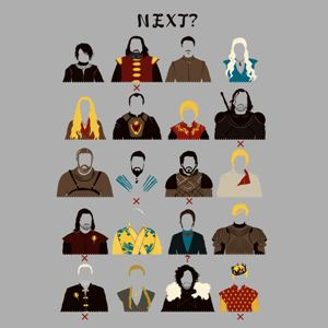 dessin t-shirt Les personnages morts de Game of Thrones geek original