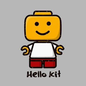 dessin t-shirt Hello Lego geek original