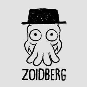 dessin t-shirt Heisenberg et Zoidberg geek original