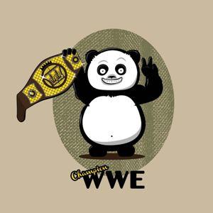 dessin t-shirt Panda WTF – WWE geek original
