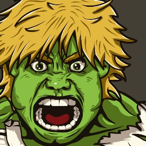 zoom t-shirt Hulk Skywalker pour un « Star wars Avengers » geek original