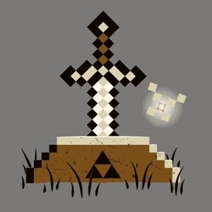 dessin t-shirt Zelda et Minecraft geek original