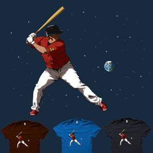 dessin t-shirt Base Ball Nucléaire geek original