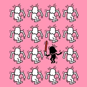 dessin t-shirt Keith Haring et Star Wars geek original