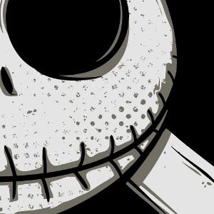 zoom t-shirt Jack Skellington & Luffy D. Monkey geek original