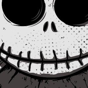 zoom t-shirt Tête de mort Tim Burton geek original
