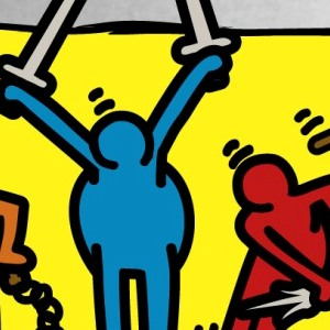 zoom t-shirt Keith Haring et les Tortues Ninja geek original