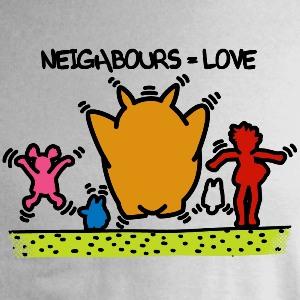 dessin t-shirt Keith Haring et Totoro geek original