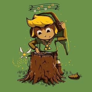 dessin t-shirt DJ Zelda geek original