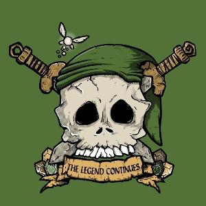 dessin t-shirt Tête de mort Zelda geek original