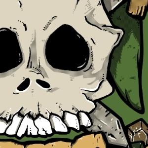 zoom t-shirt Tête de mort Zelda geek original
