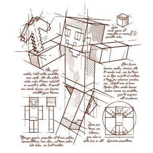 dessin t-shirt Minecraft plan geek original
