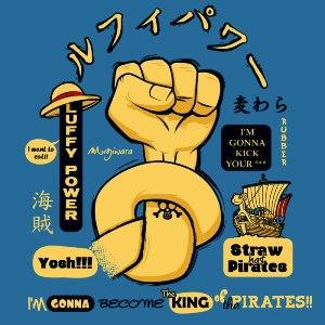 dessin t-shirt One Piece Power geek original