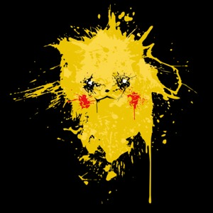 dessin t-shirt Pikachu peinture geek original